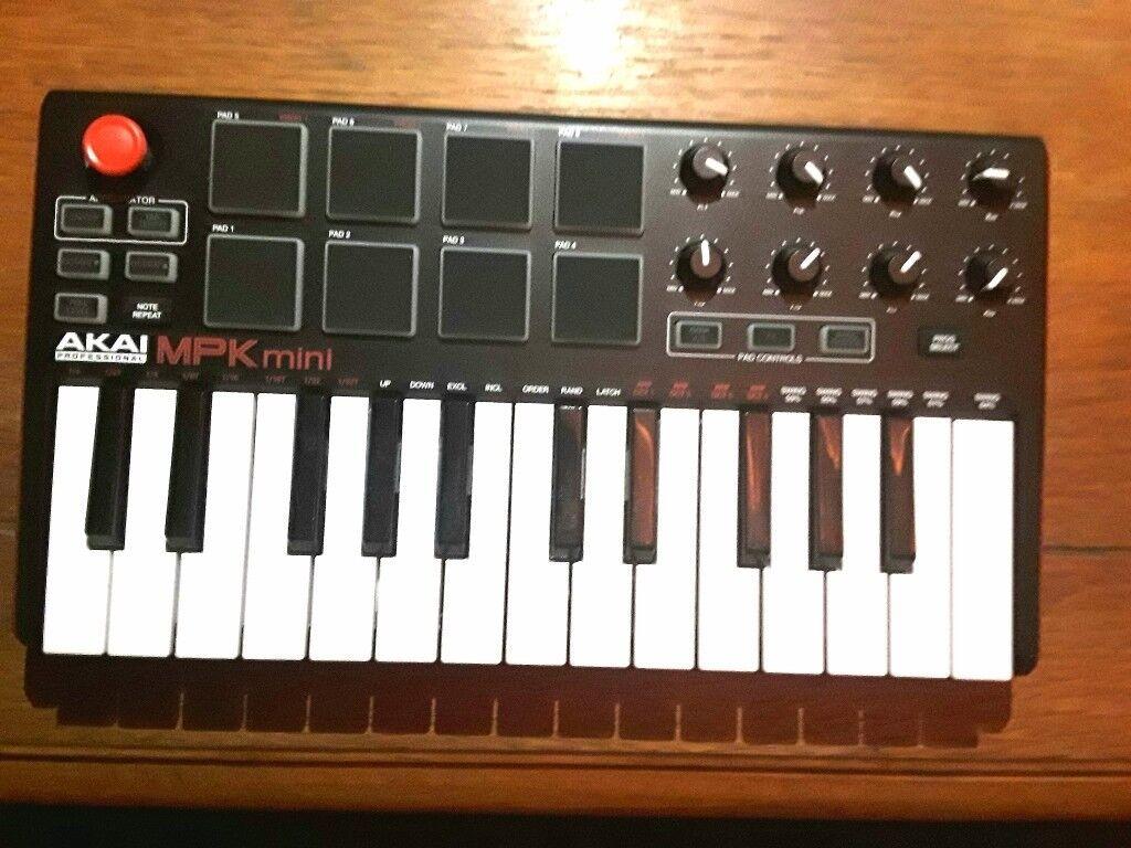 Akai MPK Mini Midi Controller /Sequencer /Drum Machine /Synth Keyboard | in  Dennistoun, Glasgow | Gumtree