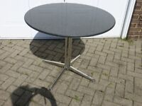 BLACK ROUND GRANITE KITCHEN TABLE