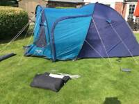 Tent and bed