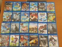 PS VITA + GAMES (ASSORTED) AND CARDS