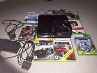 Xbox 360 & various games excellent condition