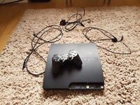 250G PS3 slimline + 40 games and controller