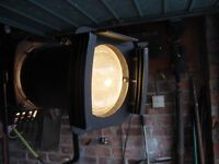 VINTAGE BRITISH THEATRE SPOTLIGHT FLOOR STANDING WITH TRIPOD