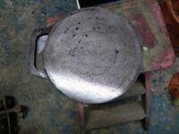 """Round steel baking stone/Cooking girdle 11"""" dia"""