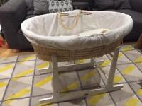 Mothercare Moses basket/crib and a rocking stand