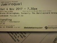 Jamiroquai tickets x2 birmingham