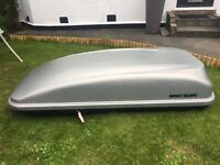 MONT BLANC VISTA 540 ROOF TOP BOX EXTRA LARGE 570 LITRE WITH FITTING KIT & STRAPS