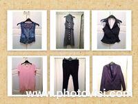 WOMENS SIZE 14 VARIOUS SMART CLOTHES BUNDLE - 6 ITEMS - TROUSERS, BLAZER, WAISTCOAT, ETC