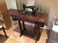 Vintage sewing machine .