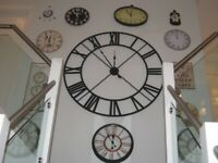 Wall of Clocks - 11 original battery operated clocks. Make a Statement, price reduced!!