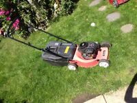 Sovereign petrol lawnmower in good fully working order.