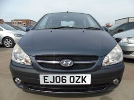 HYUNDAI GETZ 1.1 CDX 5dr PETROL GOOD SERVICE YEAR MOT DRIVES WELL petrol drives well (grey) 2006