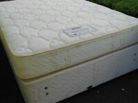 Myer's sprung base double divan bed *can deliver
