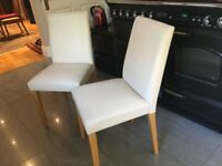 Pair (2) Dining Room Chairs NEED TO BE REUPHOLSTERED