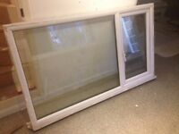 Large double glazed plastic frame window with side opening