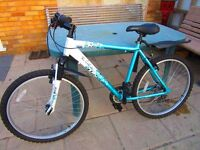 """Ladies/teenagers mountain bike VGC Lightweight 20"""" frame. Shimano gears. Hardly used Stored inside"""