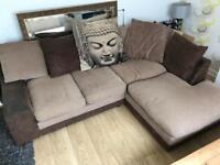 Fabric corner sofa, delivery possible