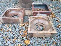 Reclaimed glazed drain gulley tops