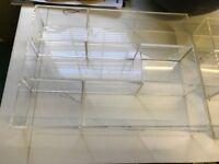 Acrylic moody trays, shop quality display trays x 2, makeup jewellery accessory trays