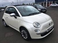 (62) Fiat 500 1.2 convertible ,mot - July 2019 , service history , 2 owners ,...