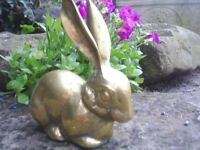 Brass Hare Paper Weight