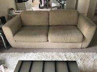 Two three piece sofa