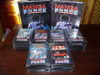 Manga Force collection of anime DVDs and booklets