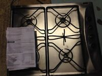 Stainless steel four burner kitchen hob for sale