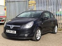 2008│Vauxhall Corsa 1.4 i 16v SXi 3dr│1 Former Keeper│Long MOT│Service History│Hpi Clear│AUX Input