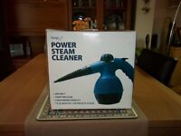 POWER STEAM CLEANER FOR SALE USED ONCE FULL INSTRUCTIONS 900WATT,3 BAR PRESSURE,ACCESSORIES INCLUDED