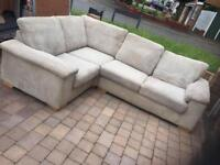 DFS jumbo cord corner sofa BED in very good condition