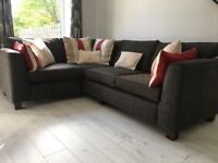 Hand Made British Custom Designed Bespoke Corner Suite Sofa by PF Collections UK over £3,000 new