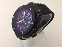 New Hublot Big Bang King Power black case automatic watch with Open work back