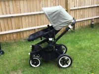 Bugaboo Buffalo Classic Pram & Pushchair - Black & olive with accessories