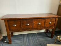 Solid Mexican pine sideboard drawers