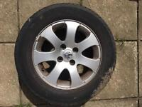 Full set Peugeot alloys including spare tire