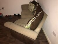 Corner/Bend Couch with Cuddle Chair