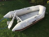 Wetline 260 Eco Boat/Tender, Inflatable, Inc Oars, Pump and Launch Wheels, Very Little Use