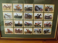 framed horse racing picture cards