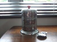 Vintage Tea Caddy and Spoon