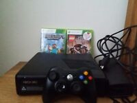 Xbox 360 with 1 wireless controller & 2 games