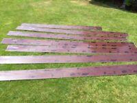 Brown Plastic Fascia Boards 150 mm X 2.5 meters length X 6.5 off