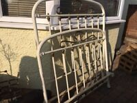 French Vintage metal bed double single