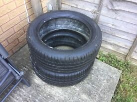 2 Used Michelin Primacy 225/50 R17 tyres 4mm