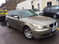 BMW 525D DIESEL AUTOMATIC ESTATE 2005 1 FORMER OWNER, PANORAMIC GLASS ROOF LEATHER SAT NAV!