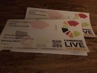 Busted Tickets (Pair) Cambridge 30th Jan 2017