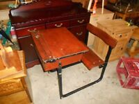 old school desk and chair