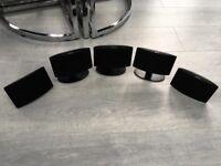 5 Jamo home cinema speakers