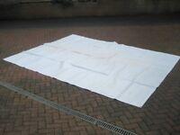 Heavy duty white tarpaulin 3m x 3.7m