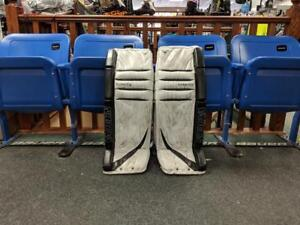 USED Vaughn V5 7800 Hockey Goalie Pads 33+1 Vintage